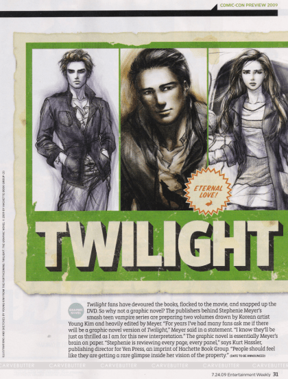 TWILIGHT EN COMICS- CROQUIS