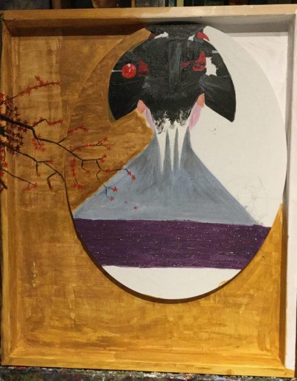 Detalle del cuello-monte geisha