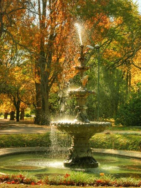 Fuente del Jardín Botánico en Montevideo, Uruguay