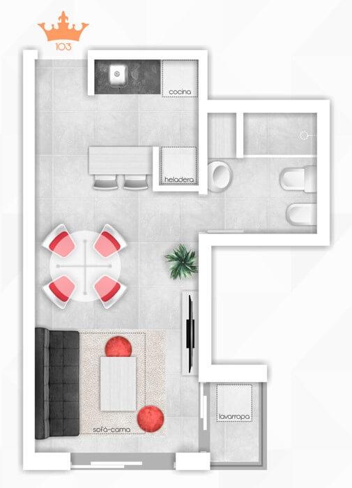 Torres del Rey Plano Unidad 403