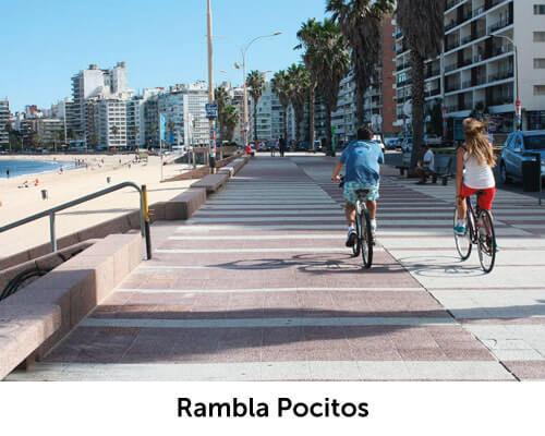 Rambla Pocitos cerca de Avenida Brasil