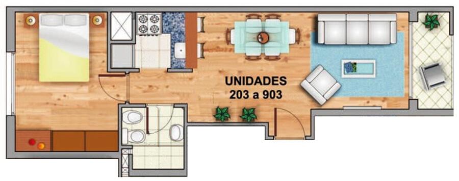 marina marti plano 1 dormitorio