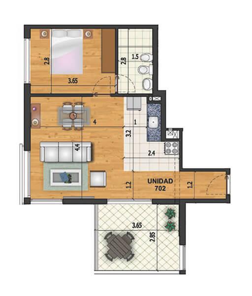 riva marina 2 1 dormitorio penthouse