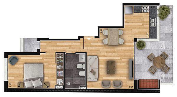 espacio soho 1 dormitorio 902
