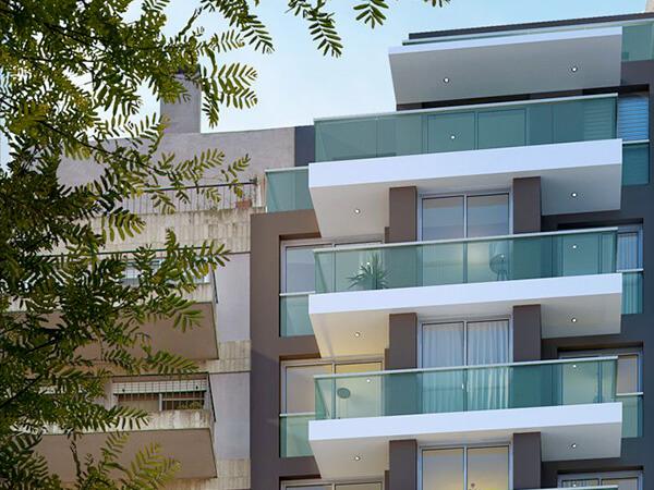 Edificio Ná Pali - Fachada Apartamento 1 Dormitorio en Pocitos