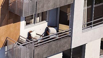 horizonte sol balcón