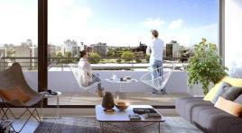 Penthouse con gran terraza, amplio living apaisado y 2 baños