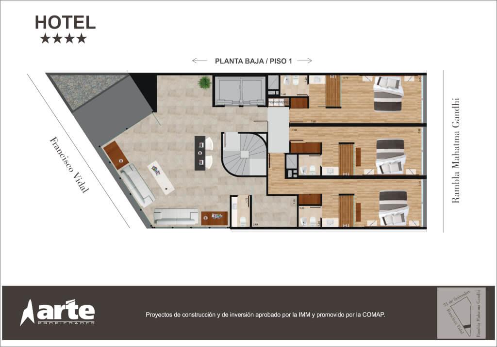 Hotel Punta Carretas SUBSUELO 2