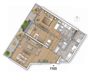 Lyra Plano 2 Dormitorios 1105