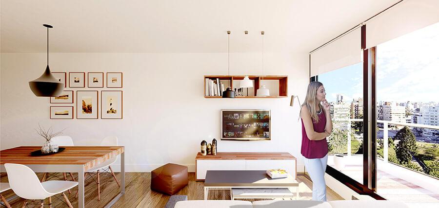 Berro Park - Living 1 dormitorio en villa biarritz
