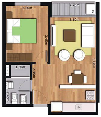 Arrayan 1 dormitorio 102