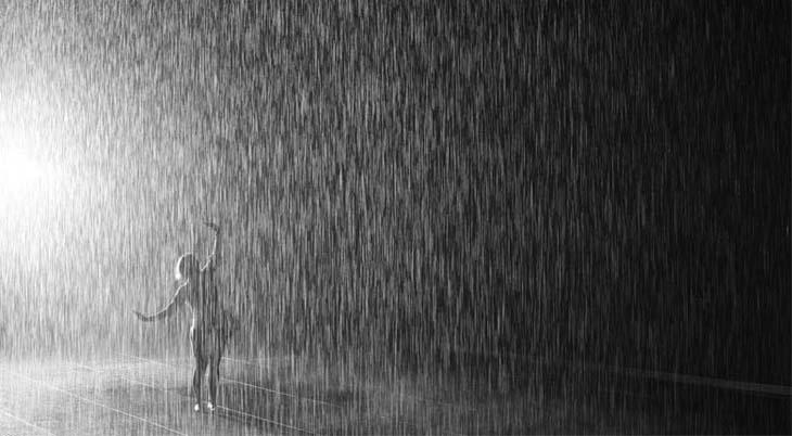 Rain Room, NYC 37˚C, MoMA