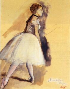 Edgar Degas. Self Portrait Saluting1