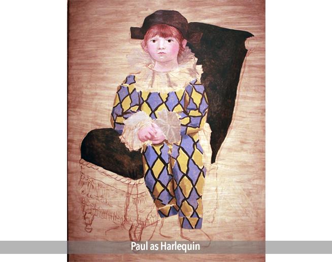 Paul as Harlequin
