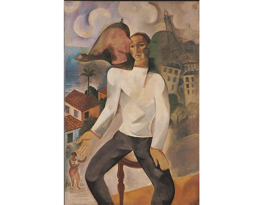 Ismael Nery. Autorretrato, 1927. Óleo sobre tela