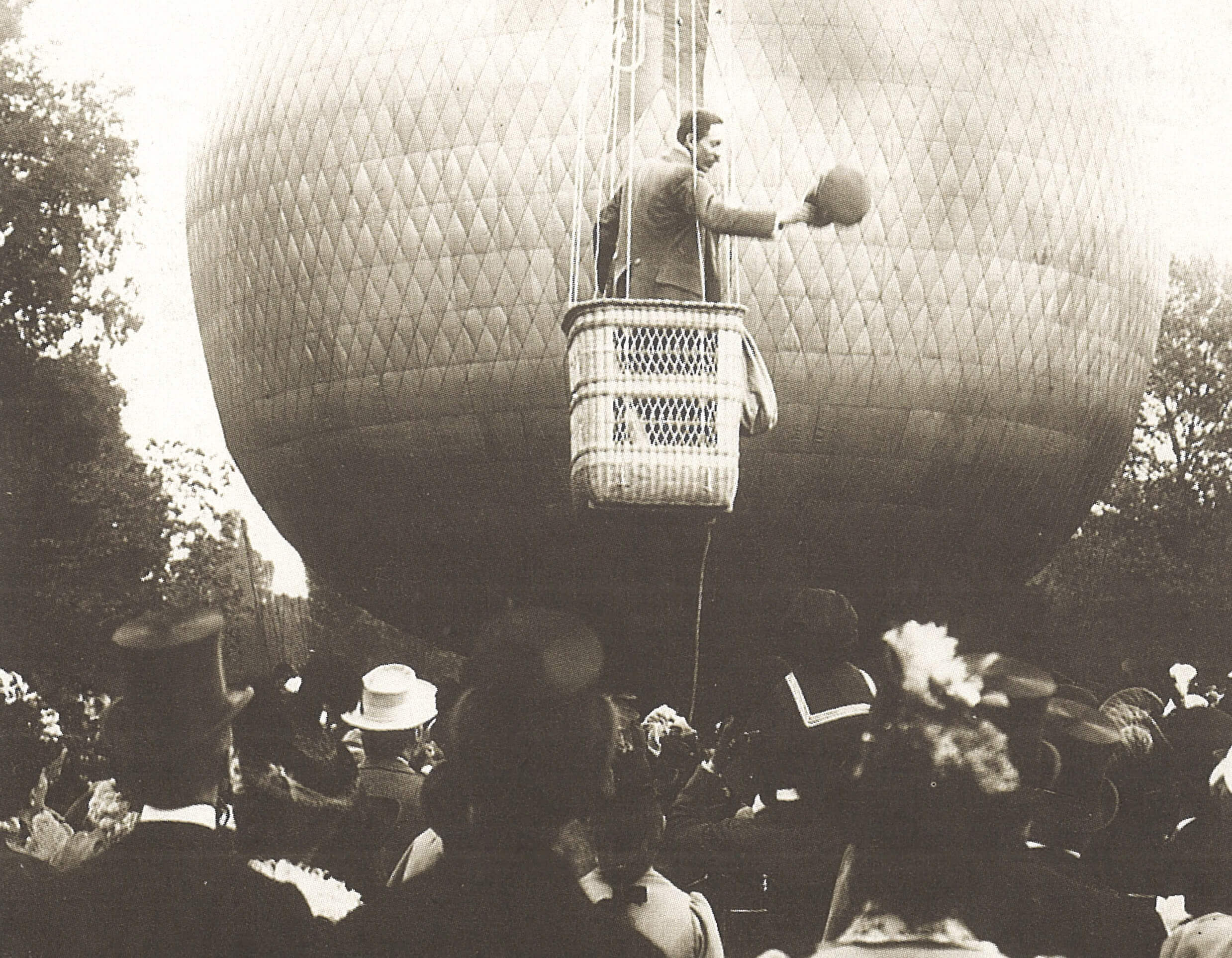 Voo do balão Brasil, 1898_credito divulgacao