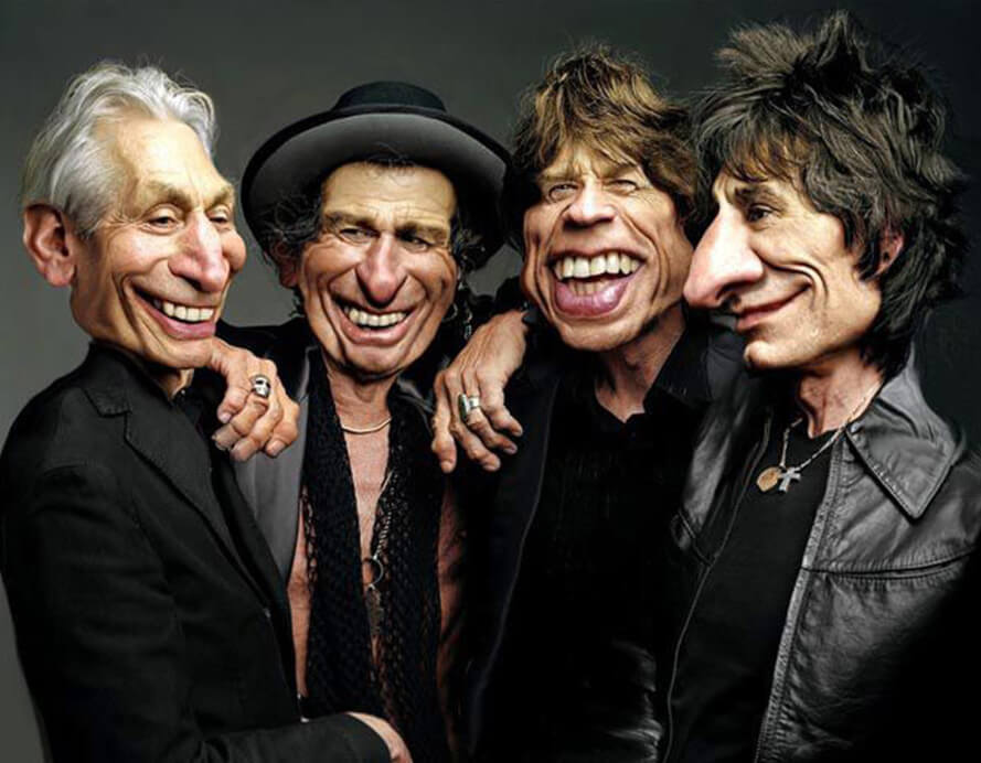 Rolling Stones (Caricatura- Rodney Pike)
