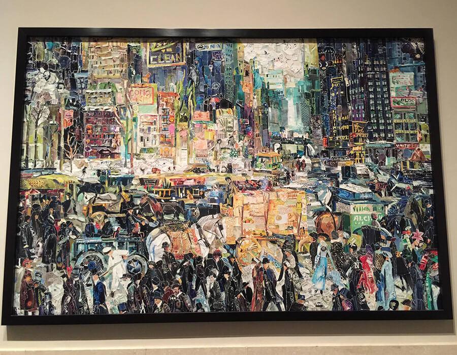 Vik Muniz - New York City after bellows - Collage