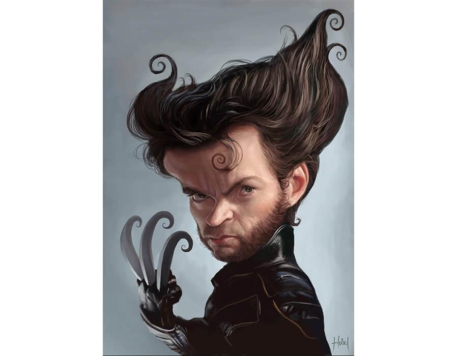 Wolverine (Caricatura- Tiago Hoisel)