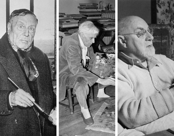 Movimentos artísticos; Maurice de Vlaminck, Georges Braque e Henri Matisse