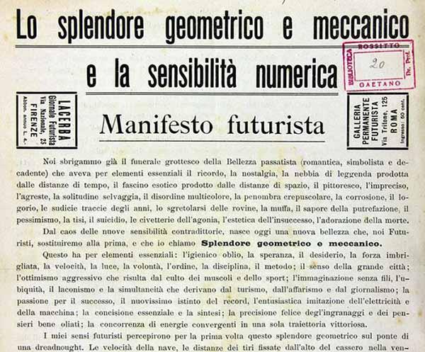 Lo splendore geometrico e meccanico e la sensibilità numerica