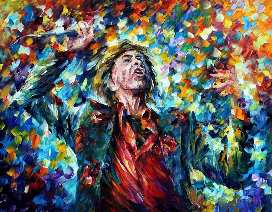 Mick Jagger. Leonid Afremov