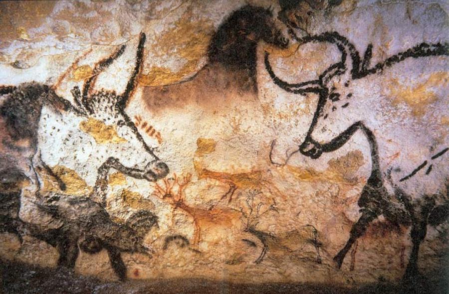 Pinturas rupestres na caverna de Lascaux, França (17.000 A.C.)
