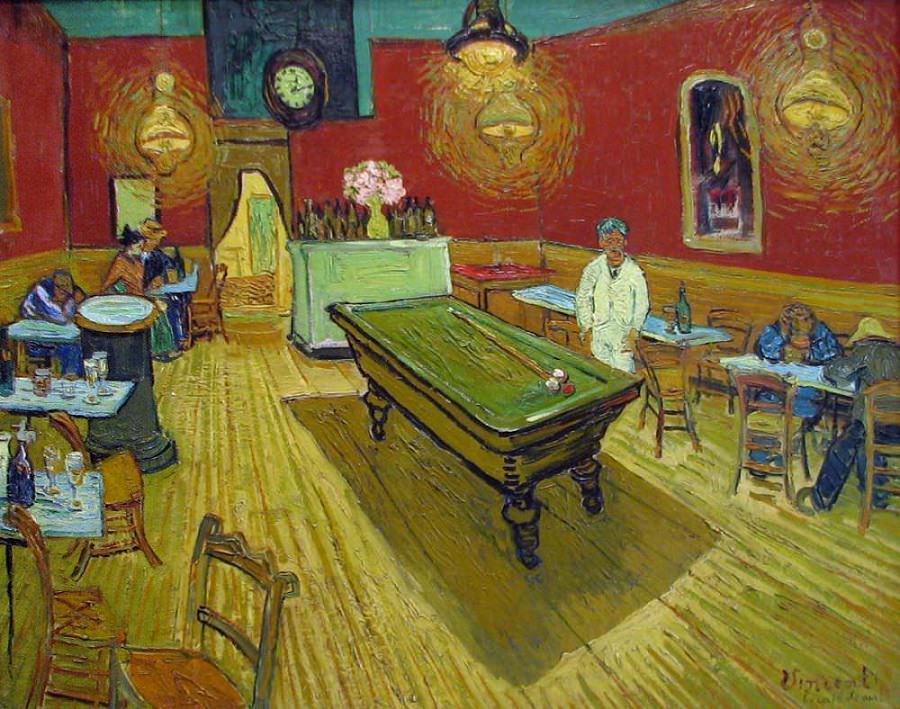 O Café À Noite na Place Lamartine - Vincent Van Gogh (1888)
