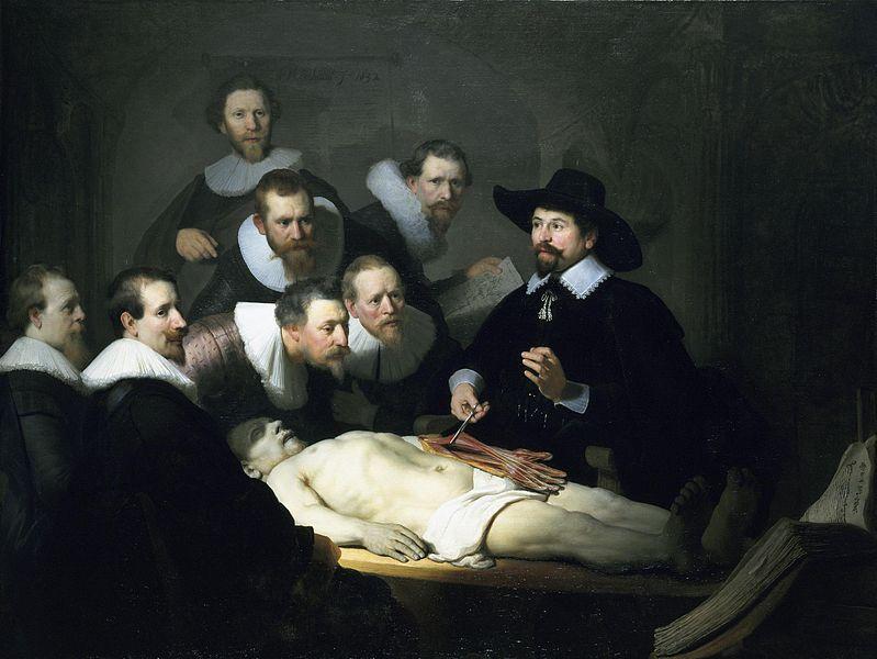 Rembrandt; A lição de anatomia do Dr. Tulp (1632)