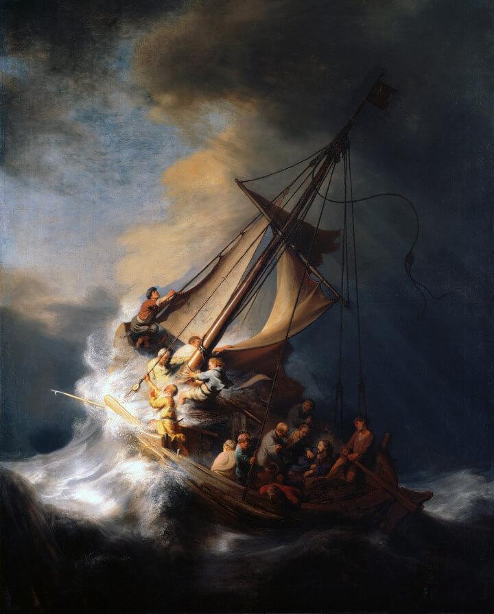 Cristo na tempestade do Mar da Galileia