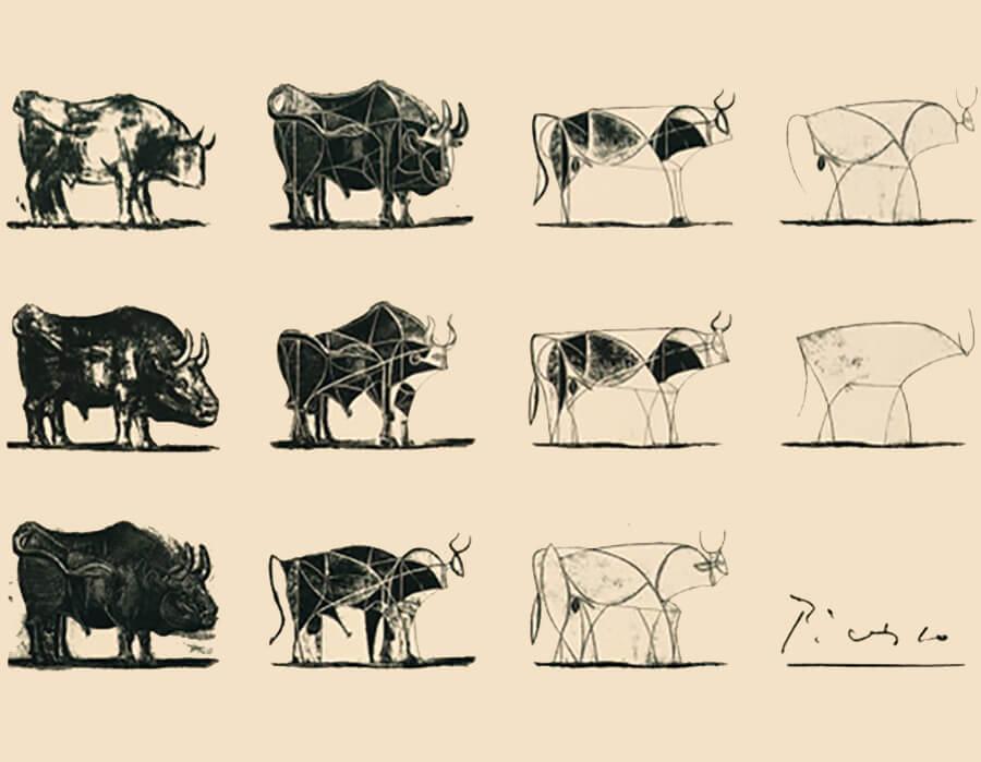 El toro de Picasso: do acadêmico ao abstrato