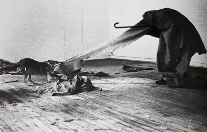 arte conceitual; Joseph Beuys. Eu gosto da América e a América gosta de mim (1974)