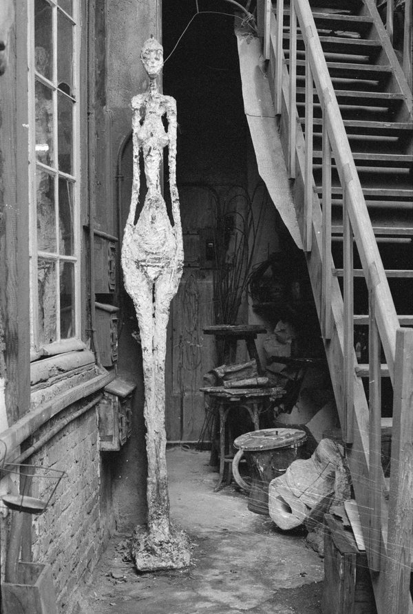 entrada do estudio de giacometti, 1962
