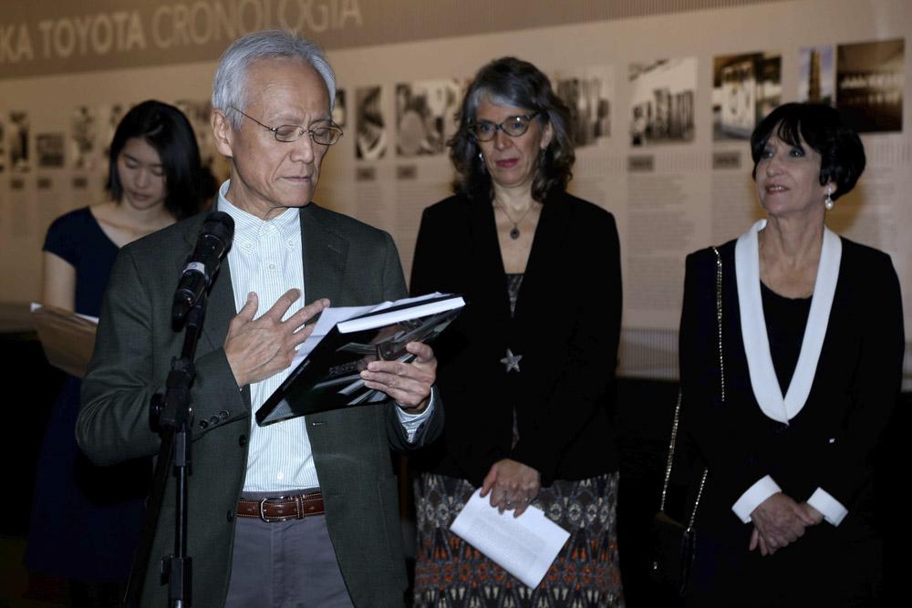 Masaru Susaki na abertura da mostra