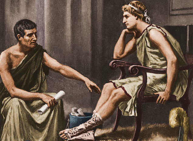 Aristóteles e alexandre