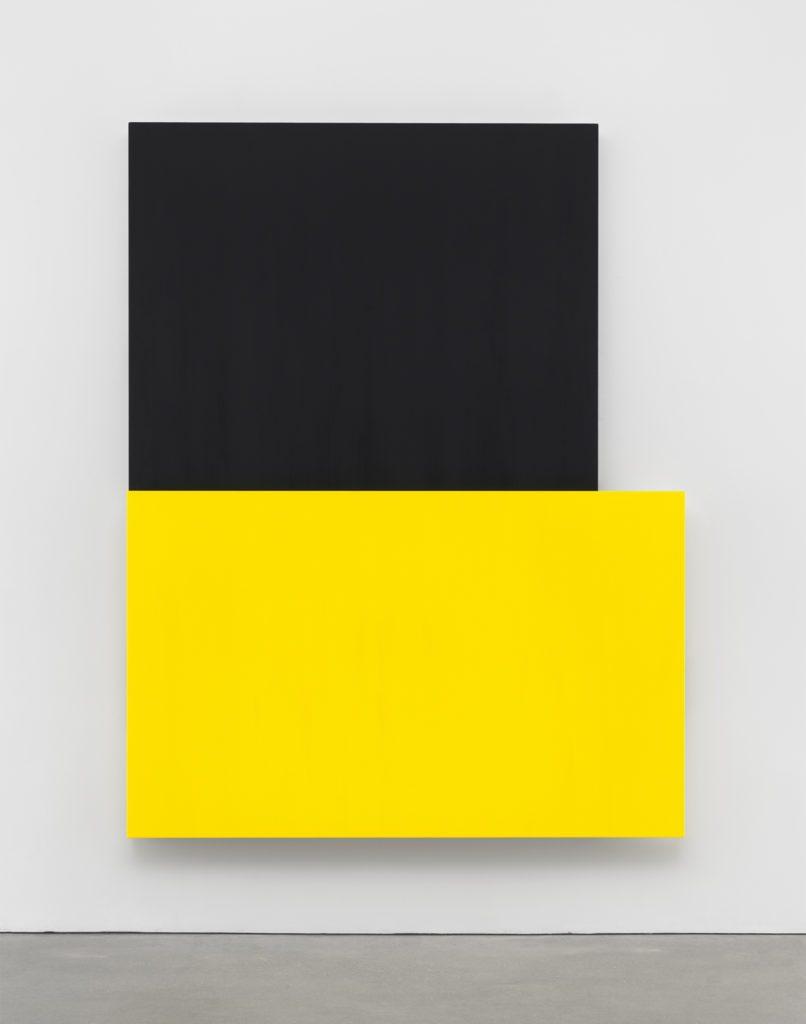 Ellsworth Kelly, Black Over Yellow, 2015