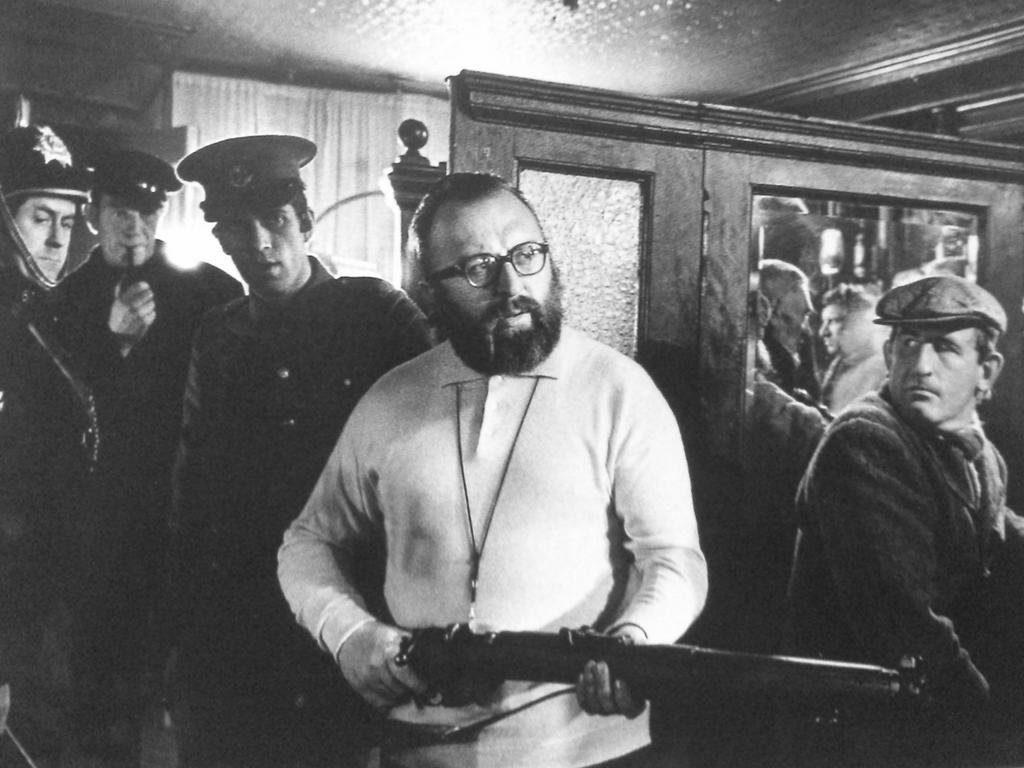 Sergio Leone  em gravação.
