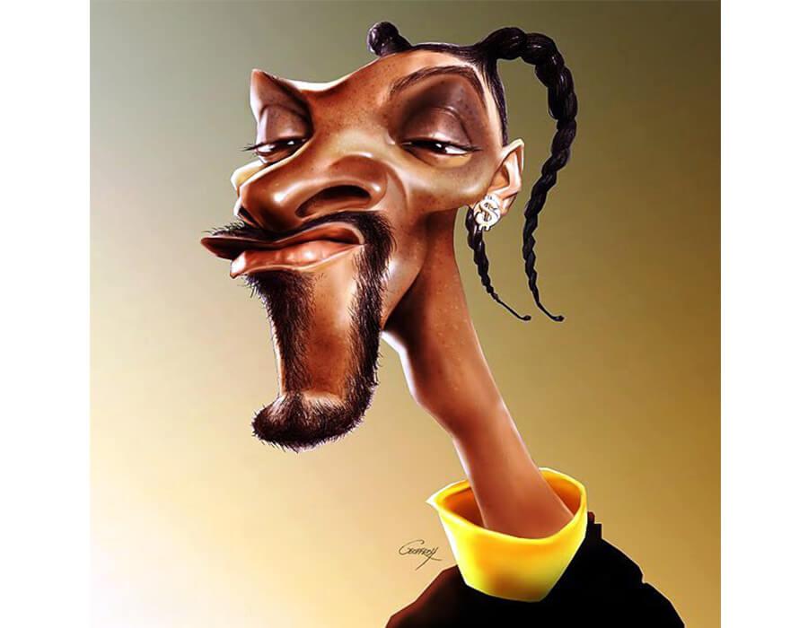 caricaturas de pessoas famosas; Snoop-Dog-Caricatura-Anthony-Geoffrey-