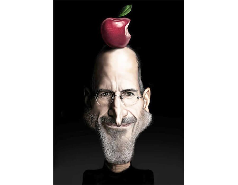 caricaturas de pessoas famosas; Steve-Jobs-Caricatura-JAM-