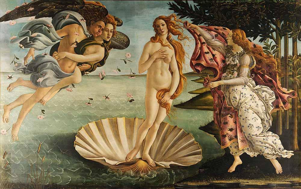 obras; The-Birth-of-Venus-Painting