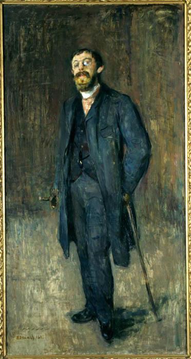 Edvard Munch; Retrato de Karl Jensen Hjell