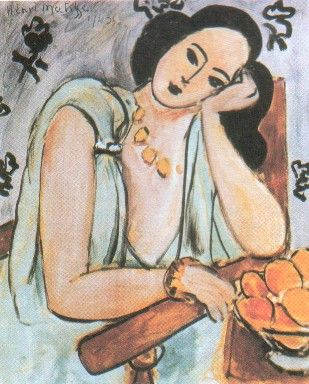 Matisse, La Robe verte et les oranges