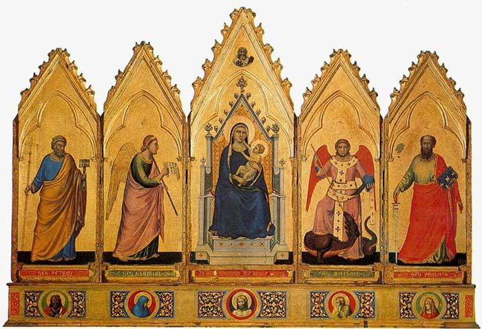 Trecento; Giotto. Políptico de Bolonha (c.1334)