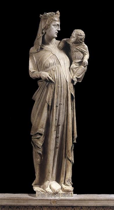 trecento; Pisano - Madonna and child