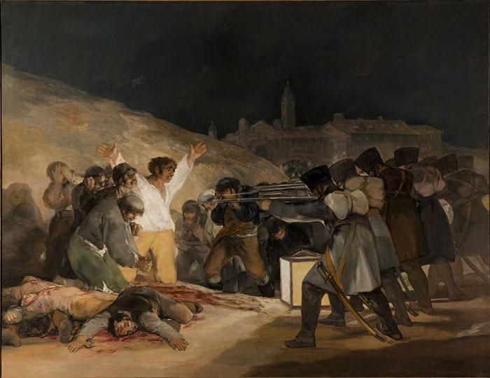 Goya. O 3 de Maio de 1808 | Museu do Prado, Madri.; o que é arte