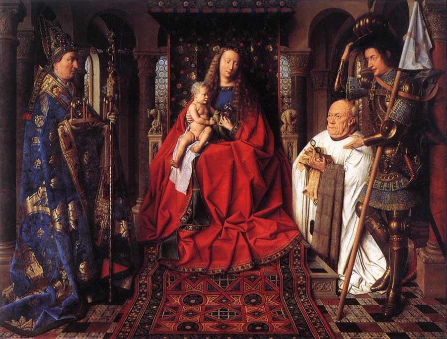 Van Eyck - A Virgem e o Menino com o Cónego van der Paele