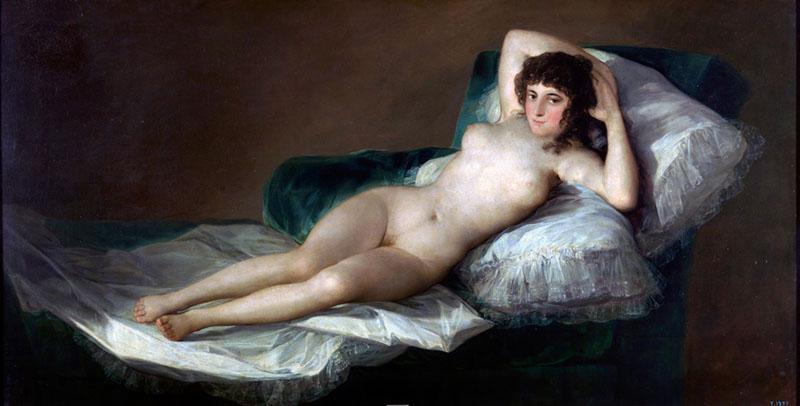 Goya - A Maja nua (1797 – 1800) | Museu do Prado, Madri
