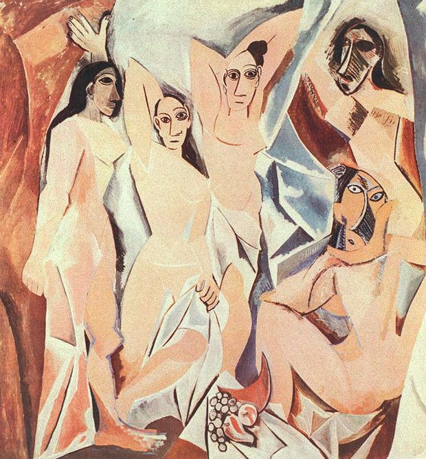 Les Demoiselles d'Avignon. retratos de prostitutas