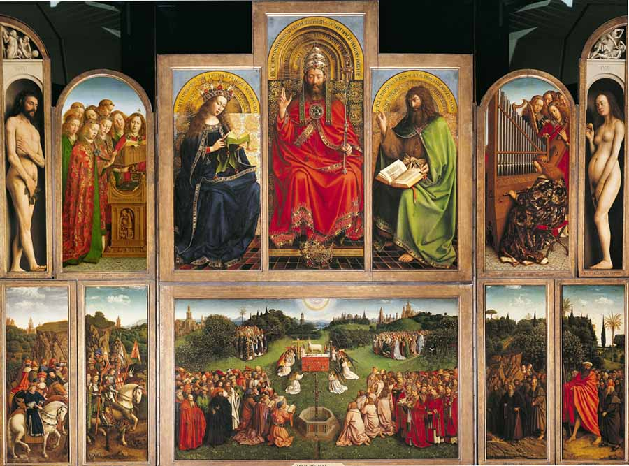 Jan Van Eyck - O Retábulo de Gante (1432) | Catedral de São Bavão, Gante, Bélgica