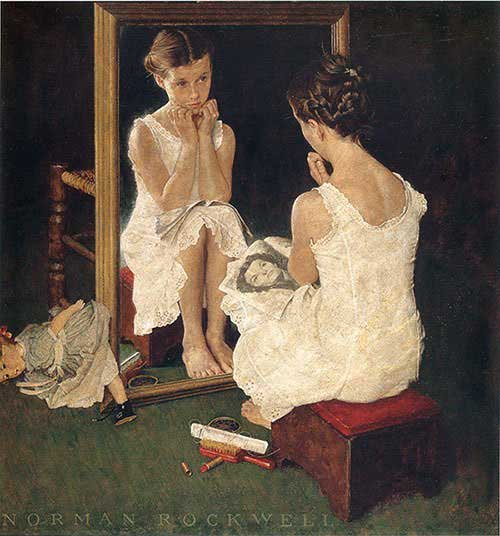 Girl-at-Mirror-1954-Norman-Rockwell